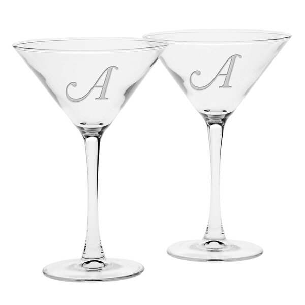Linwood Deep Etched 7.25 Oz. Martini Glass (Set of 2) by Winston Porter