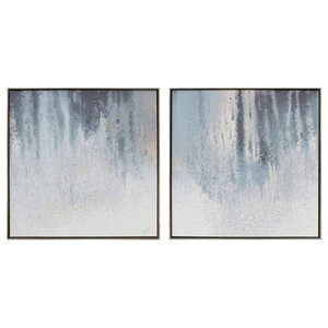 2 Piece Graphic Art on Wrapped Canvas Set by Brayden Studio