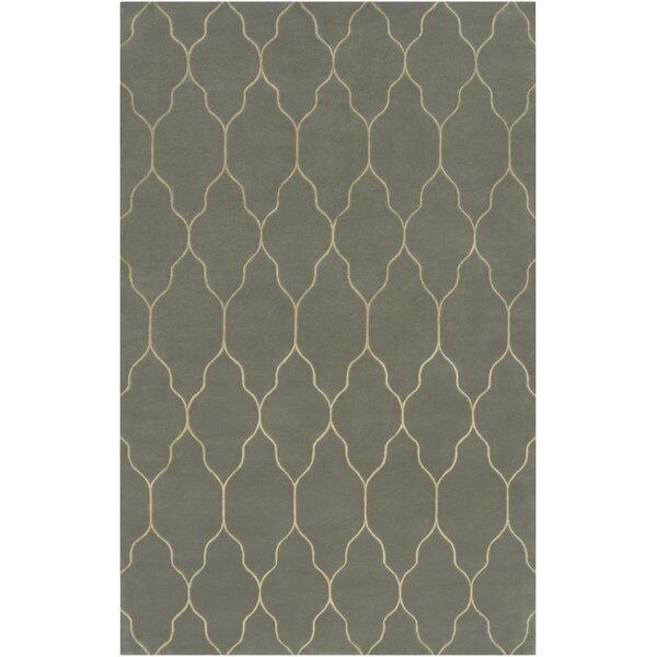Moreton Silver Blue/Ivory Geometric Area Rug by Darby Home Co