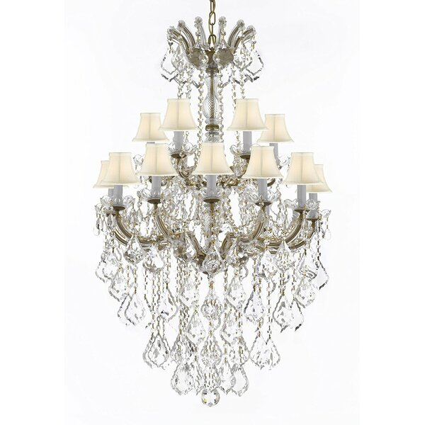 Alvarado 18-Light Shaded Tiered Chandelier by Astoria Grand Astoria Grand