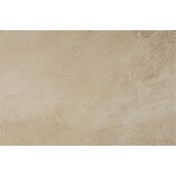 Rok Textured Ink Jet 13 x 20 Porcelain Tile in Almond by Bedrosians