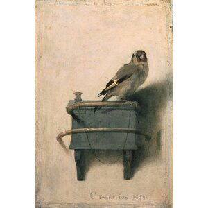 'The Goldfinch, 1654' by Carel Fabritius Painting Print on Wrapped Canvas by East Urban Home