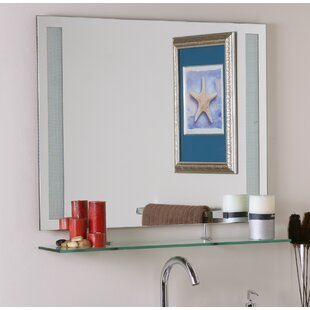 Brayden Studio Frameless Wall Mirror with Shelf