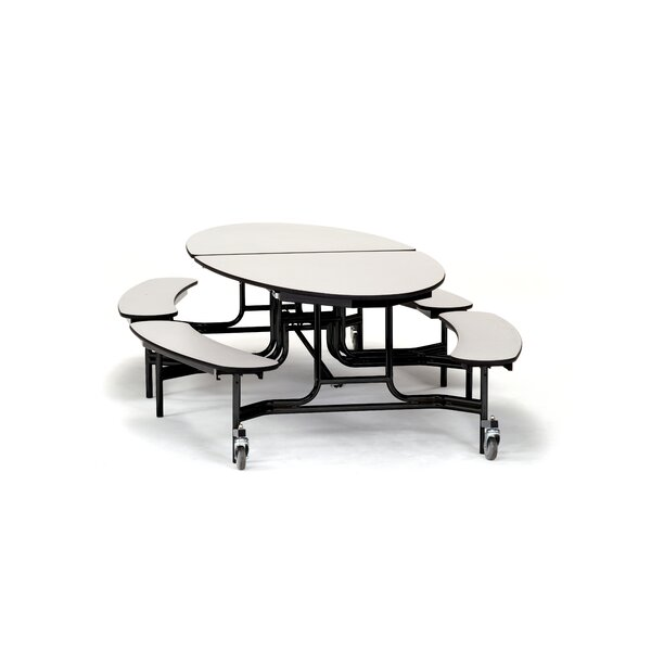 121 Elliptical Cafeteria Table by National Public Seating