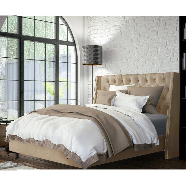Tessa Upholstered Standard Bed by Skyline Furniture