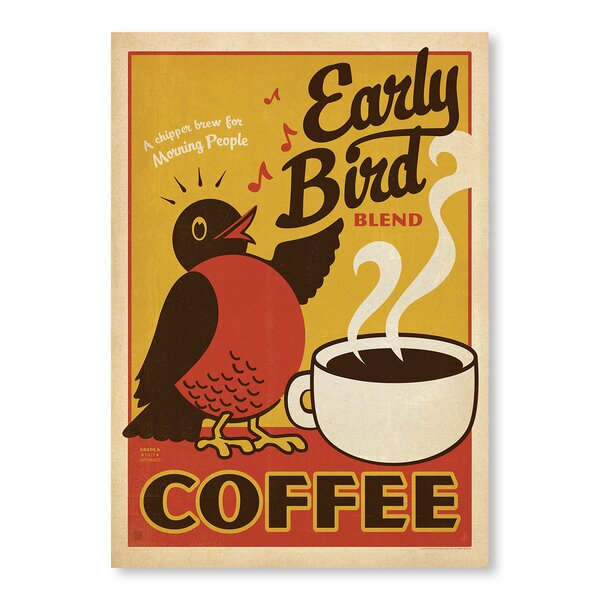 Early Bird Vintage Advertisement by East Urban Home