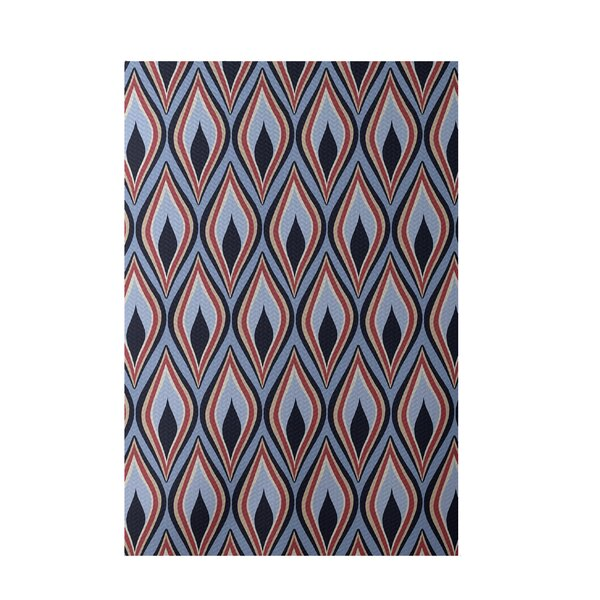 Hand-Woven Light Blue Indoor/Outdoor Area Rug by e by design