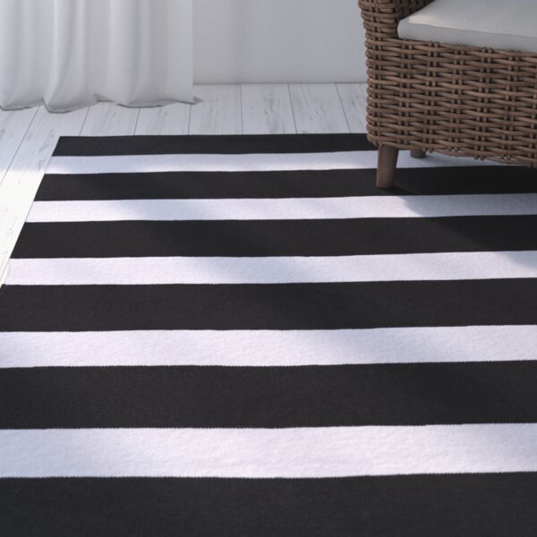 Peugeot Black/Ivory Indoor/Outdoor Area Rug by Beachcrest Home