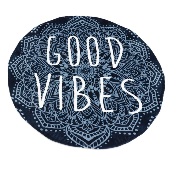 Hendrickson Good Vibes Fleece Throw by Bungalow Rose