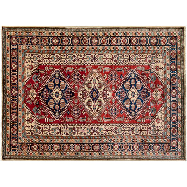 One-of-a-Kind Shirvan Hand-Knotted Red Area Rug by Darya Rugs