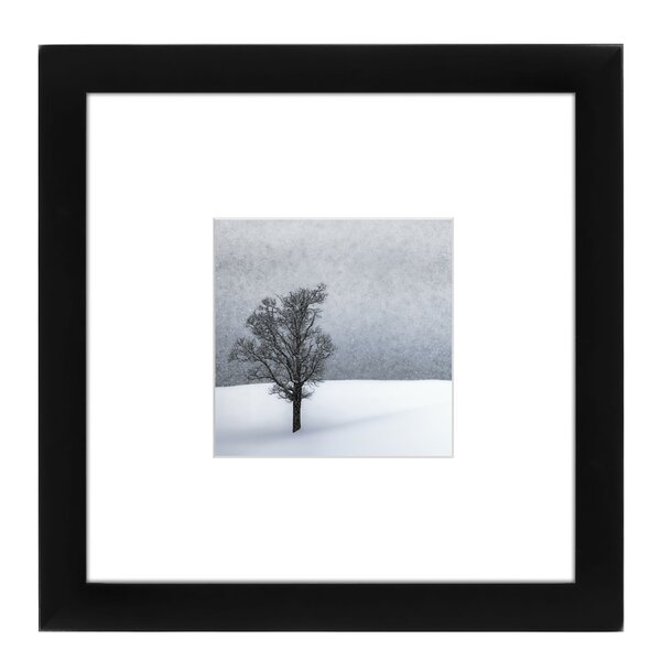 Lonely Tree Idyllic Winter Landscape Framed Photographic Print by East Urban Home