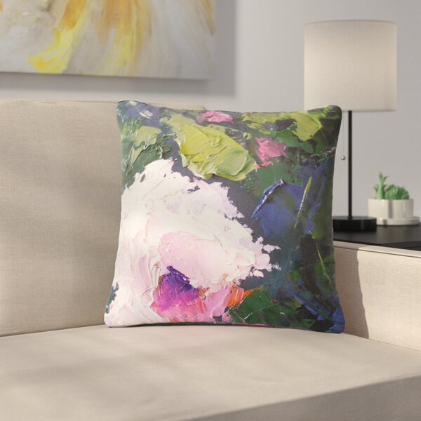 Carol Schiff Textu Rose Painting Outdoor Throw Pillow by East Urban Home