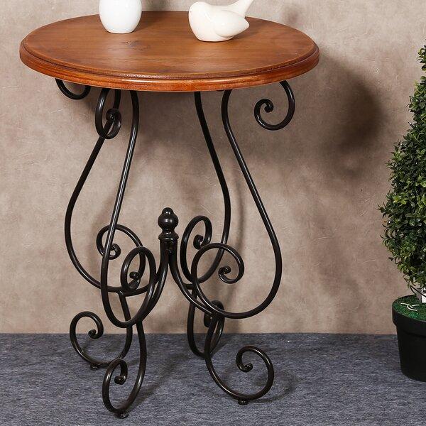 Eckhardt Scroll End Table by Fleur De Lis Living