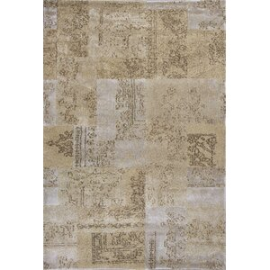 Timeless Champagne Tapestry Area Rug