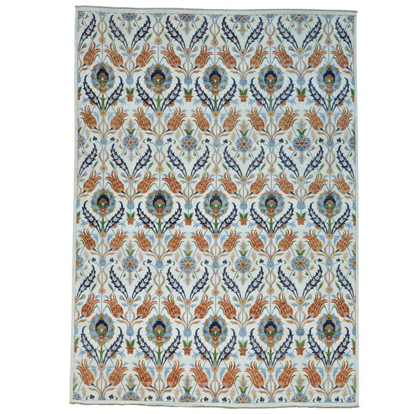 One-of-a-Kind Schrader Peshawar Hand-Knotted Brown/White Area Rug by Bungalow Rose