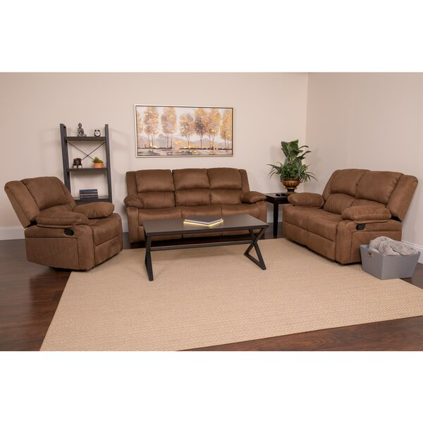 Chalfont 3 Piece Reclining Living Room Set by Winston Porter Winston Porter