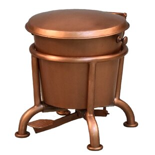 Copper Trash Can With Lid | Wayfair