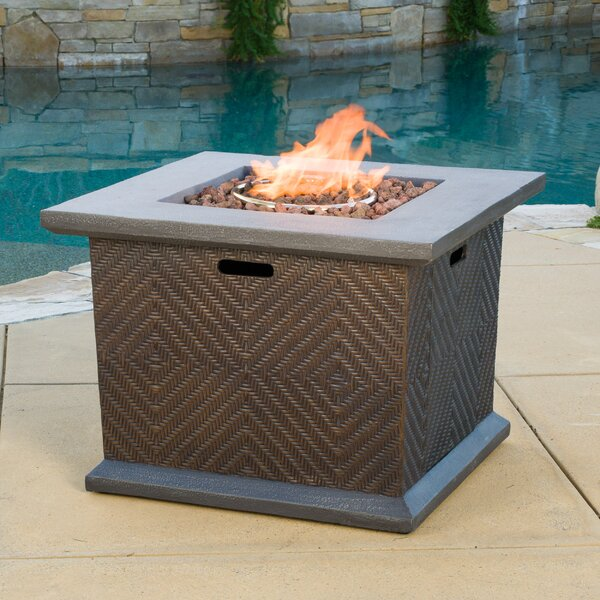 Hirsch Polyresin Propane Fire Pit Table by Bayou Breeze