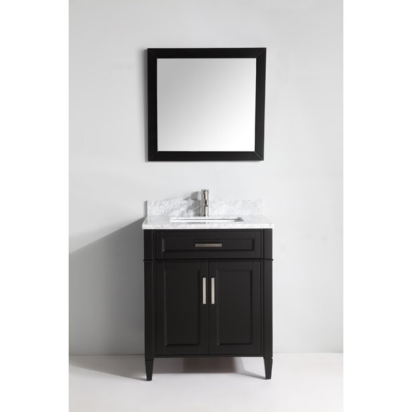 Lachine Marble 30 Single Bathroom Vanity with Mirr