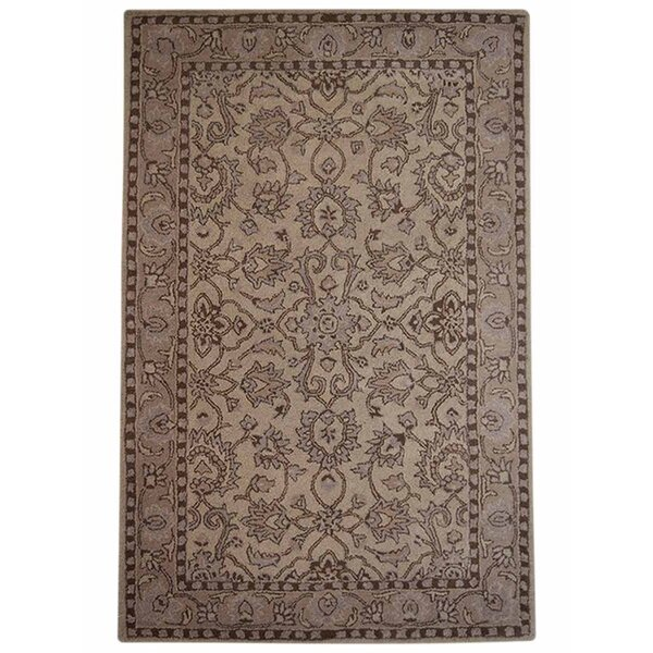 Selma Hand-Woven Cream Area Rug by Alcott Hill
