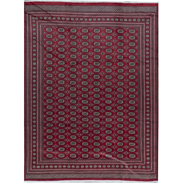 Oriental Hand-Knotted Wool Red Area Rug