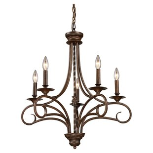 Affordable Dubuque 5- Light Candle Style Chandelier By Fleur De Lis Living