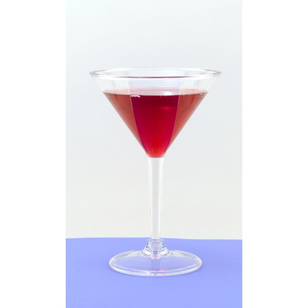 Martini 10 oz. Plastic Cocktail Glass (Set of 6) by Galleyware Company