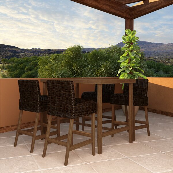 Woodstock 5 Piece Bar Height Dining Set by Zipcode Design
