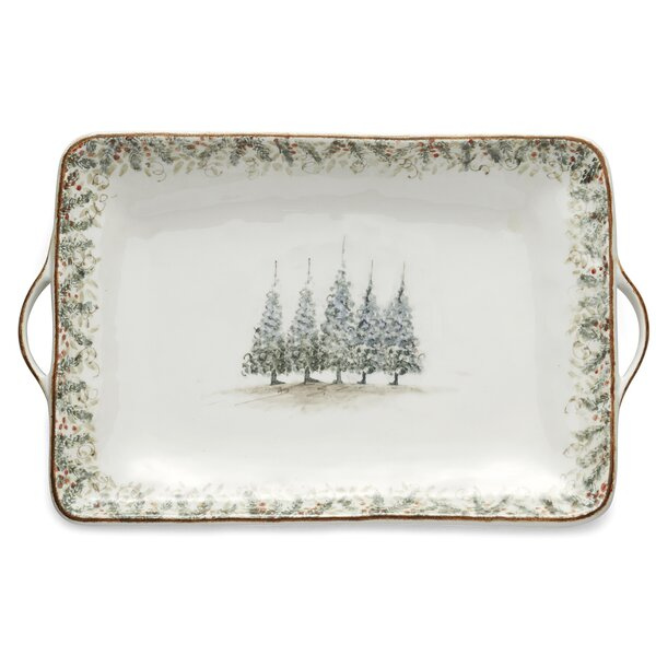Natale Large Rectangular Tray by Arte Italica