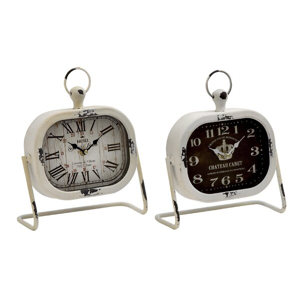Table Clock Set (Set of 2) by Cole & Grey| @ $57.99