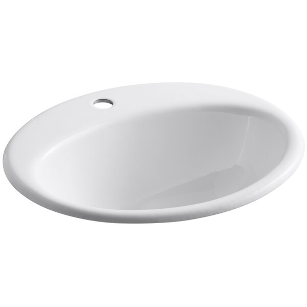 Farmington Metal Oval Drop-In Bathroom Sink with O