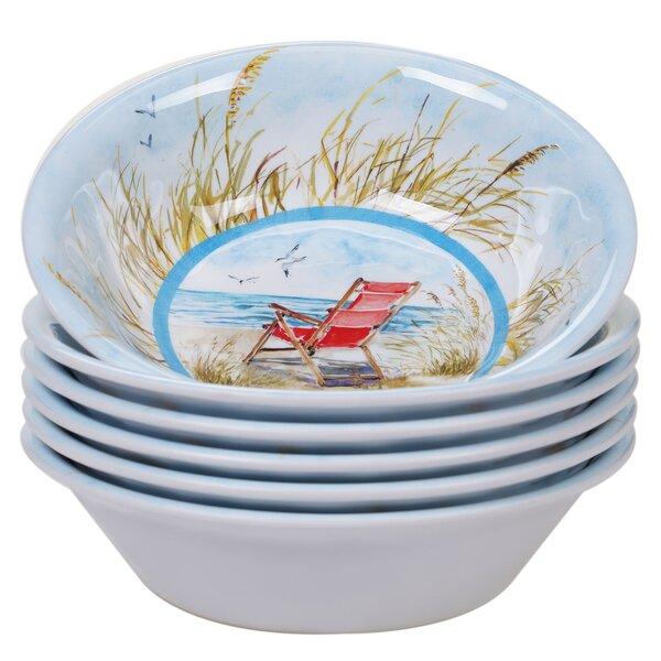 Cavallaro 22 oz. Melamine Dining Bowl (Set of 6) by Highland Dunes