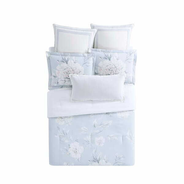 Stem Floral 3 Piece Reversible Duvet Set by Christian Siriano