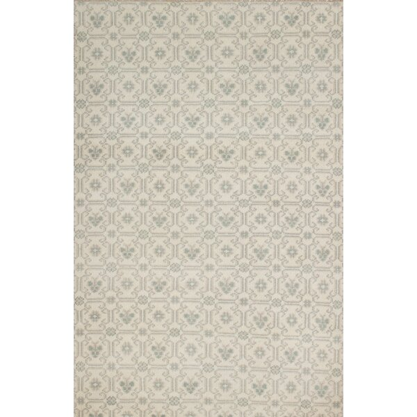 One-of-a-Kind Derrall Hand-Knotted Beige Area Rug by Bungalow Rose
