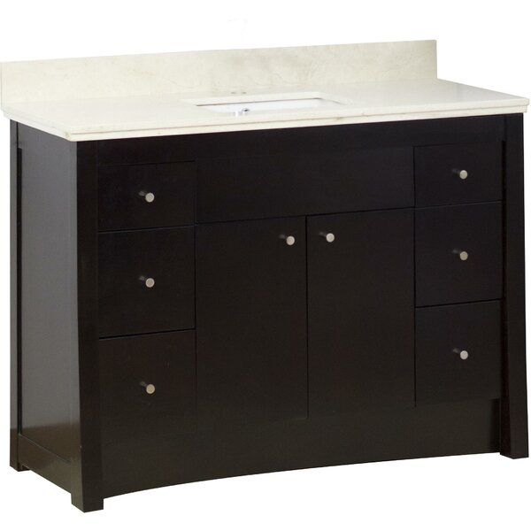 Kimbrell Transitional Floor Mount 48 Single Bathroom Vanity Set by Royal Purple Bath Kitchen
