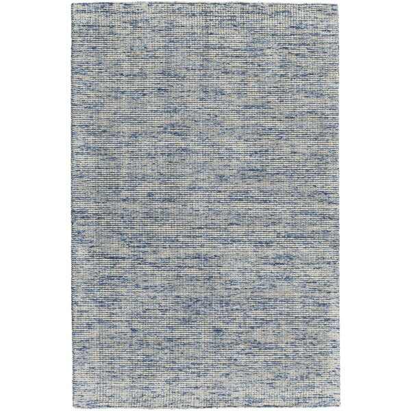 Cunningham Hand-Woven Blue Area Rug by Rosecliff Heights