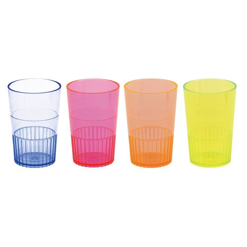 Hotshots Party Shot 2 oz. Plastic Shot Glass (Set of 8) by True Brands