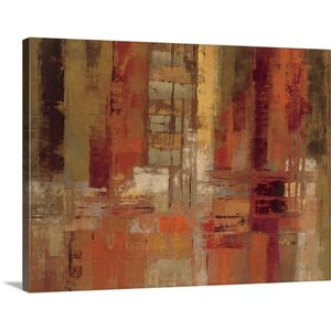 'Sunset Street' by Silvia Vassileva Painting Print on Canvas by Canvas On Demand