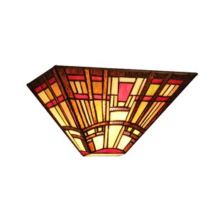 Mission style ceiling light wayfair mondragon 1 light tiffany style mission wall sconce 12 wide mozeypictures Gallery
