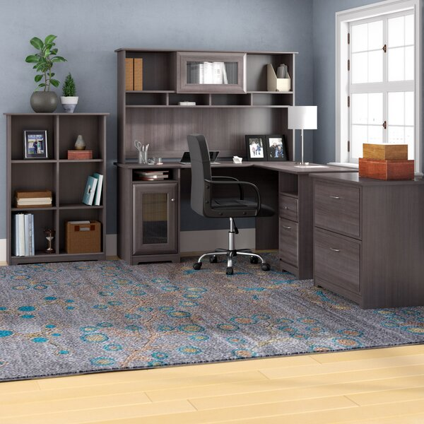 Hillsdale L-Shape Desk with Hutch, 6 Cube Bookcase and Lateral File by Red Barrel Studio