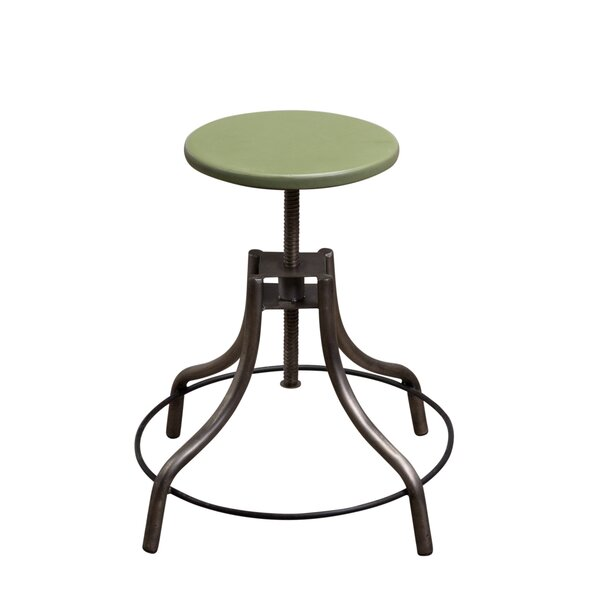 Hythe Adjustable Height Swivel Stool by Williston Forge