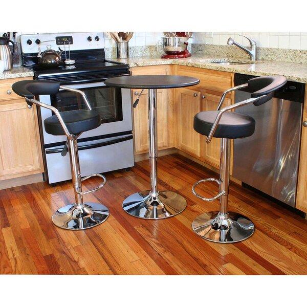 Heinemann 3 Piece Adjustable Pub Table Set by Ebern Designs