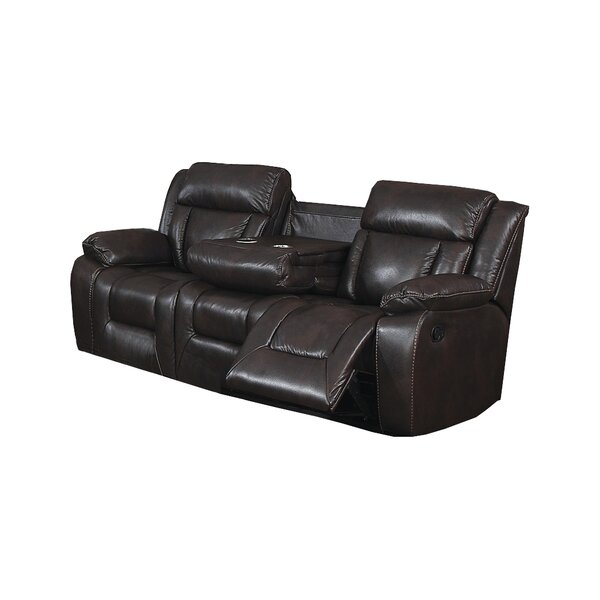 Price Compare Aisling Traditional Reclining Sofa with Fold Down Tray New Seasonal Sales are Here! 40% Off