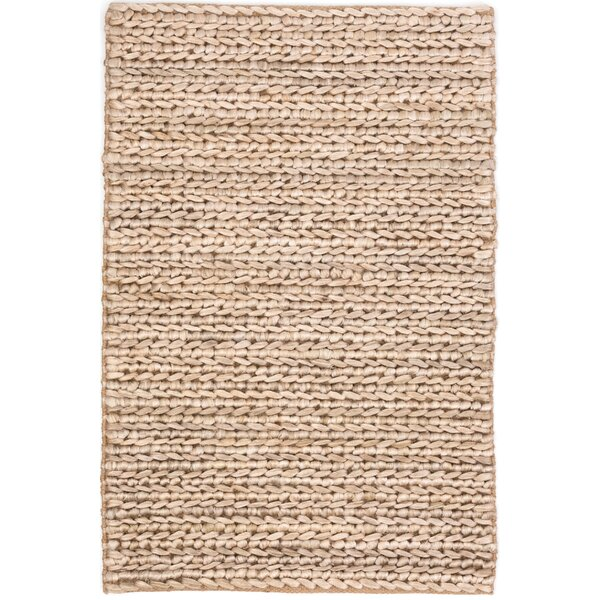 Hand-Woven Beige Area Rug by Dash and Albert Rugs