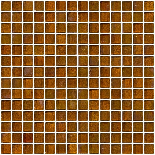 Iridescent 0.75 x 0.75 Glass Mosaic Tile in Brown by Susan Jablon