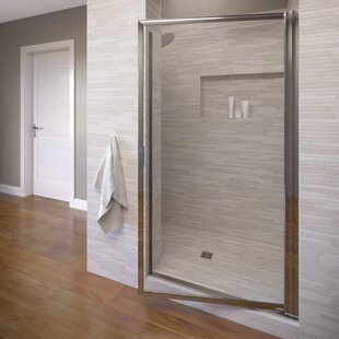 Price Check Sopora 30 x 71 Pivot Framed Shower Door By Basco