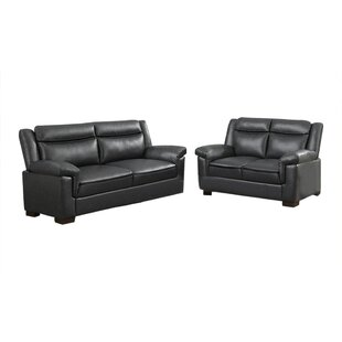 Erlwine 2 Piece Faux Leather Living Room Set by Red Barrel Studio®
