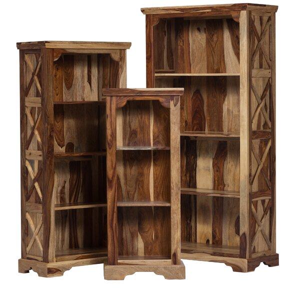 Stahl Solid Sheesham Wood Standard Bookcase by Loon Peak