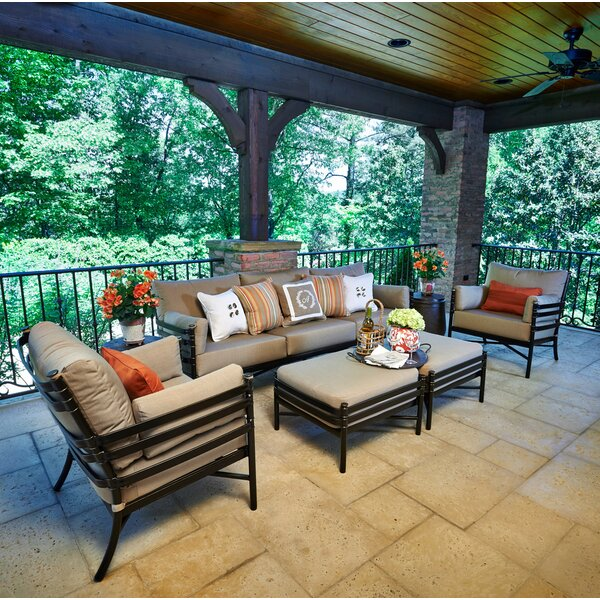 Lancaster 5 Piece Sofa Seating Group with Sunbrella Cushions by Peak Season Inc.