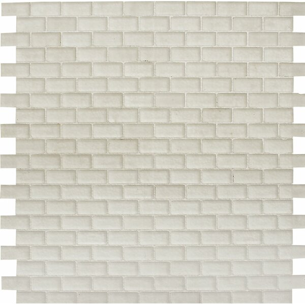 Tahoe Brick 0.625 x 1.25 Glass Mosaic Tile in Matte by Parvatile